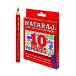 NATRAJ 10 COLOUR PENCILS