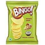 BINGO POTATO CHIPS CREAM AND ONION RS 10