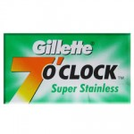 GILLETTE 7'O CLOCK SUPER STAINLESS